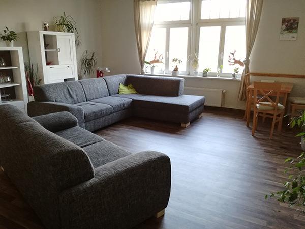Wohnzimmer heilpädagogische Wohngruppe